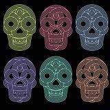 Set of parallel lines skulls Stock Photos