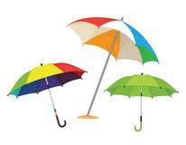 set paraplyer för illustratiion vektor illustrationer