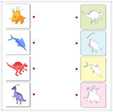 Set of parasaurolophus, styracosaurus, ichthyosaurus and spinosa Stock Photo