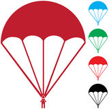 Set of Paratroopers vector illustration