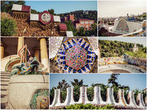 Set Parc Guell Royalty Free Stock Image
