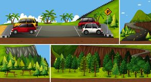 A Set of Parking in Nature Royalty Free Stock Images