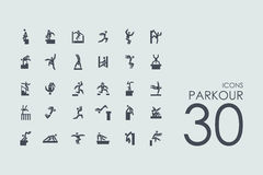 Set of parkour icons Royalty Free Stock Photos