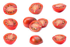 Set part tomatoes Royalty Free Stock Photos