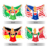 Set of participant Countries Flags for Sports concept. Stock Images