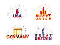 Set of participant countries for Sports concept. Stock Image
