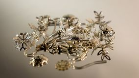 A set of parts for the assembly of earrings. Elements for creativity and assembly of earrings.  stock footage