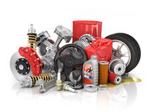 Set of parts of car. Royalty Free Stock Image
