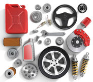 Set of parts of car. Stock Images