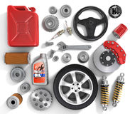 Set of parts of car. Royalty Free Stock Photos