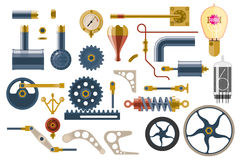 Set of parts and components of the machine mechanism Royalty Free Stock Photography