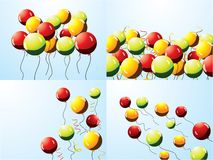 Set of party balloons Royalty Free Stock Images