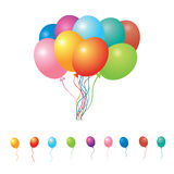 Set of party balloons Royalty Free Stock Photos