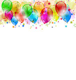 Set Party Balloons, Confetti With Space For Text Stock Photography