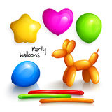 Set of party balloons for miscellaneous occasions. Vector. Set of party balloons for miscellaneous occasions Royalty Free Stock Images