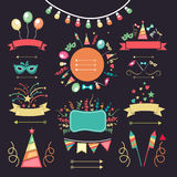 Set of party elements. Royalty Free Stock Photos