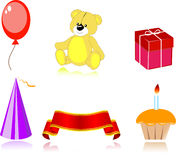 Set of party icon Stock Photography