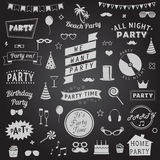 Set of party icons Stock Photos