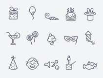 Set of 15 Party icons Stock Photography