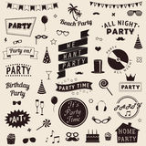 Set of party icons Vector signs and symbols templates for your design Stock Photos