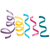 Set of party streamers. Carnival serpentine Stock Image