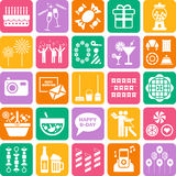 Set of party web icons Royalty Free Stock Photos