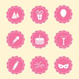 Set partyjne ikony Obraz Royalty Free