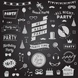 Set partyjne ikony Zdjęcia Stock