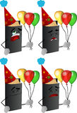 Set of passed out or wounded birthday book Royalty Free Stock Photo