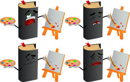 Set of passed out or wounded painter book Royalty Free Stock Image