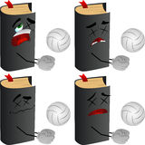 Set of passed out or wounded volleyball player book Royalty Free Stock Photo