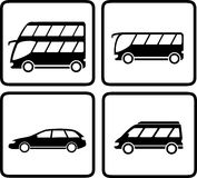 Set passenger transport icon Royalty Free Stock Photography