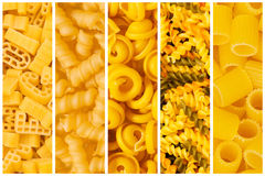 Set of  pasta backgrounds Stock Image