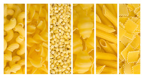 Set of pasta backgrounds Royalty Free Stock Photography
