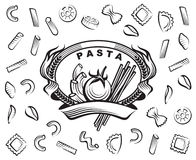 Set of pasta Royalty Free Stock Photos