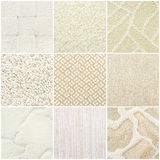 Set of pastel carpet samples Royalty Free Stock Images
