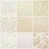 Set of pastel carpet samples Royalty Free Stock Images