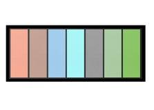 Set of pastel eyeshadows isolated on white Stock Photography