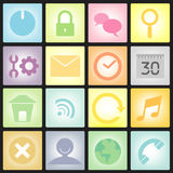Set of pastel icon vector Stock Photography