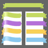 Set Pastel Ribbons Stock Image