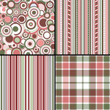 Set pastel seamless patterns Royalty Free Stock Photography