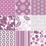 Set pastel seamless patterns Stock Photo