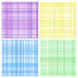 Set of pastel stripes plaid royalty free illustration