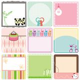 A set of pastel Tags / Labels Stock Image