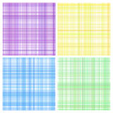 Set Pastell stripes Plaid Lizenzfreie Stockfotografie