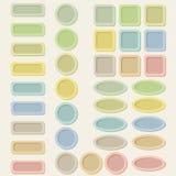 Set Pastelltasten für Web-Auslegung. Vektor Abbildung