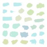 Set pastelowi farby muśnięcia przedmioty Obrazy Stock