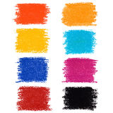 Set pastelowi kredkowi punkty, odosobniony na białym tle Zdjęcia Stock
