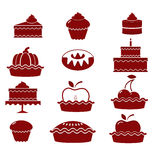 Set of pastry icons Royalty Free Stock Image