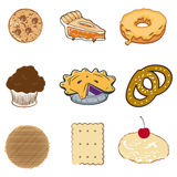 Set of pastry Stock Photos